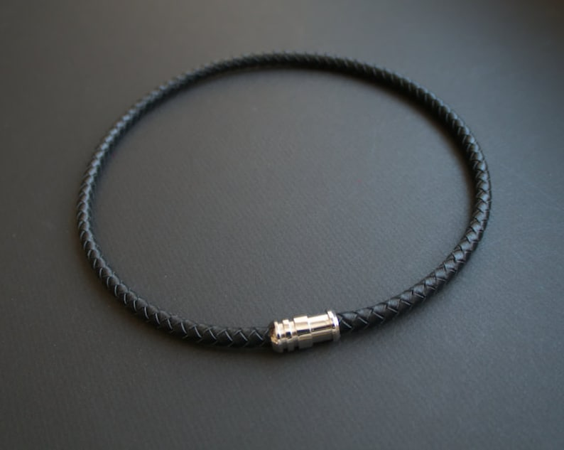 """ANCHOR PENDANT ON  2MM BLACK REAL LEATHER  NECKLACE CORD THONG CHAIN 13-32/"""""""