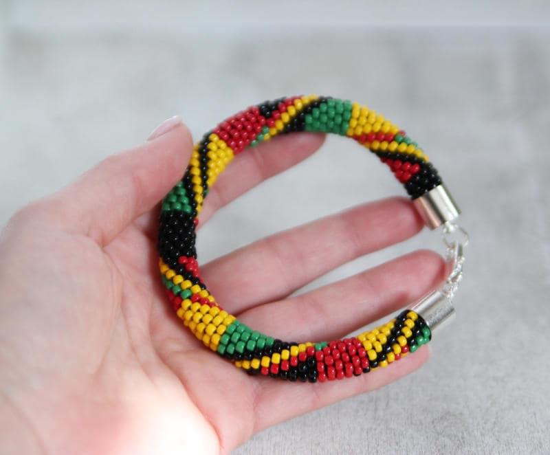 Reggae Bracelet Rastafarian Bracelet Rasta Bracelet Mens  a687d74ab