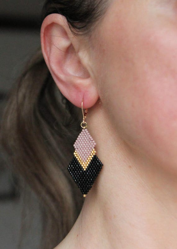 VDX Silver Drop Earrings with Gold Tassels