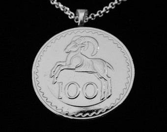 CYPRUS - Great Mouflon Ram - Necklace, Man Necklace, Key Ring, or Money Clip.  For Lovers of Cyprus or Amazing Wildlife, maybe even YOU!