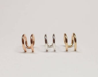 Rose Gold Ear Cuff/ Sterling Silver, 14k Gold or Rose Gold Filled, No piercing Ear Cuff, Cartilage Earring, Handmade Earring, Gift for Her