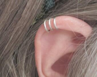 Triple Ear Cuff/ No piercing Cuff/ Fake Piercing Earring/ Handmade Earring/ 2 Ear Cuffs per Order