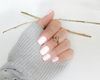 Heart Knuckle Ring, Love Ring, Boho Jewelry, Dainty Gift for Her, Bridesmaids Gifts, Inspirational Handmade Jewelry, Dainty Jewelry