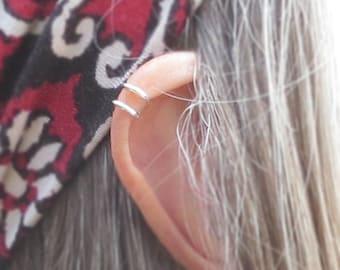 Double Ear Cuff/ No piercing Ear Cuff/ Fake Piercing Earring/ Handmade Earring/ Get 2 Ear-cuffs per Order