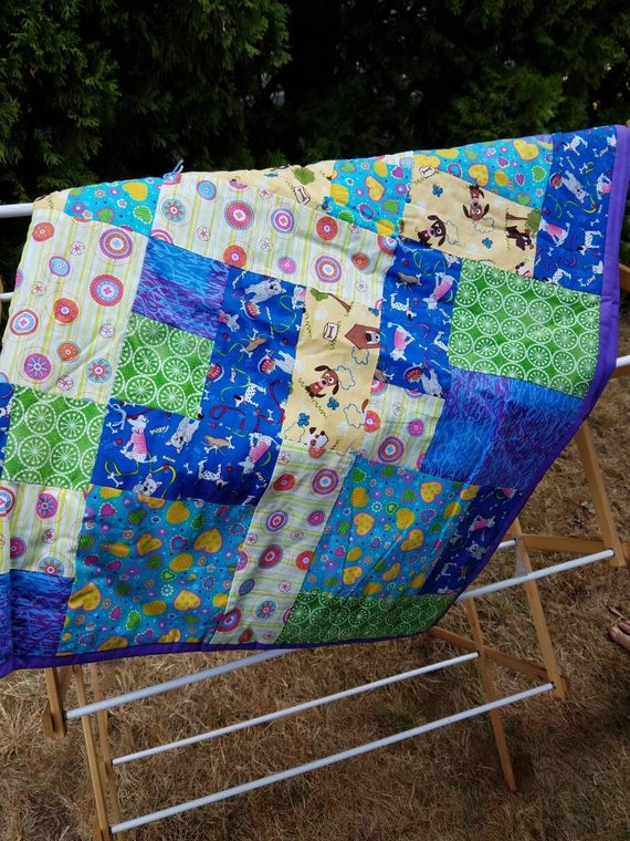 Animal Lover Quilt - Boys Bedroom Accessories - Home Accessories - Home  Decor - Lap quilt - Bedroom Decore