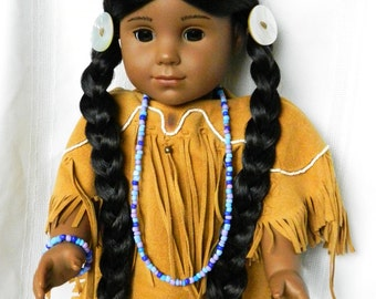 Native American Indian Doll Jewelry 18 inch Doll Necklace Bracelet American Doll Mixed Color Beads Kaya Doll Accessories Long Necklace