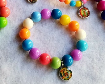 Our Lady of Guadalupe Charm Bracelet Mother Mary Virgencita Plis Kids Jewelry Bracelet First Communion Baptism Party Favors