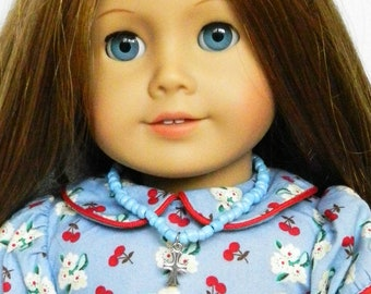 Doll Jewelry 18 inch American Doll Cross Pendant Necklace American Girl Saint Doll Accessories Doll Bracelet