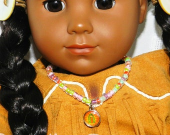 18 inch Doll Jewelry Necklace American Doll, Our Lady of Guadalupe Virgencita Plis Native American Doll Indian Doll Jewelry Catholic Toys