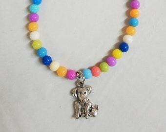 18 inch Doll Jewelry Dog Pendant Puppy Necklace, Dog Doll Accessory American Girl Doll, Dog Lover