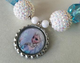 Frozen Birthday Party, Frozen Chunky Necklace, Elsa, Frozen Costume, Bubblegum Bead, Little Girl, Photo Prop, Frozen Birthday, Elsa Necklace