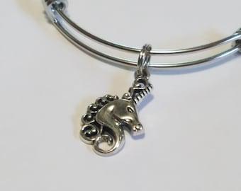 Hypoallergenic Stainless Steel Charm Bracelet, Unicorn, Llama, Adjustable Bangle Add A Charm Jewelry