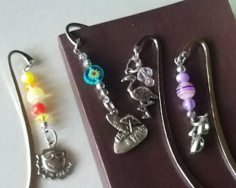 Travel Bookmark Gift For Bookworm Silver Metal Bookmark, Teacher Gift, Student Gift, Sun Vacation Bookmark