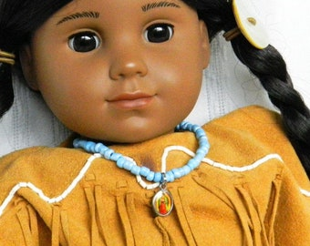 Our Lady of Guadalupe 18 inch Doll Jewelry, Native American Doll Necklace American Girl Mother Mary Catholic Doll Jewelry Catholic Image