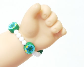 18 inch Doll Jewelry, Hawaiian Style Bead Bracelet, Choose Your Color  American Girl Doll Size Jewelry
