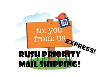 RUSH SHIP - Upgrade Your Shipment to RUSH with Priority Mail Express - Get It Faster - Upgraded shipping, Rush Priority shipping