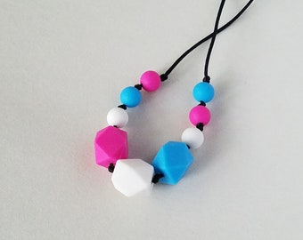 Sensory Chew Beads Teething Necklace Nursing Necklace for Mommy and Baby Food-Grade Silicone Baby Safe Gift for Her