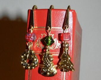 Christmas Bookmark Glass Beads Christmas Tree, Christmas bell, Christmas Wreath, For Book Lovers