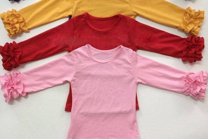 c984a54b Girls Icing Ruffle Shirt Toddler Boutique Little Girls Long   Etsy