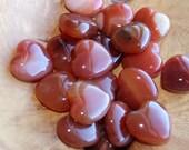 Carnelian Stone Shaped Heart K11 photo
