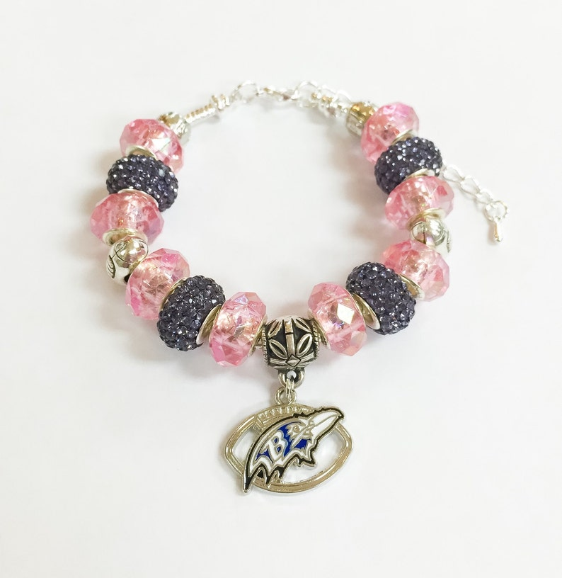 huge discount ac9b3 4a52f Baltimore Ravens Breast Cancer Awareness Bracelet