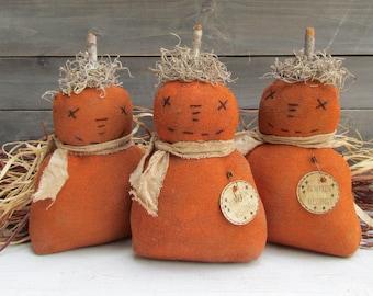 Primitive Pumpkin, Farmhouse Pumpkin, Primitive Fall Decor, Farmhouse Fall Home Decor, Primitive Pumpkin, Fall Pumpkin Decor