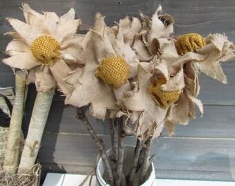 Farmhouse Fall Flower, Primitive Fall Decor, Farmhouse Fall Decor, Farmhouse Primitive Home Decor, Rustic Flower, Primitive Grungy Flower