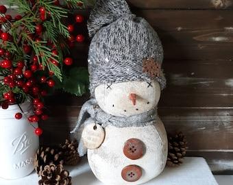 Farmhouse Snowman, Vintage Snowman, Snowman Decor, Christmas Snowman, Rustic Snowman Decor, Snowman Decor, Christmas Decor, Snowman Sitter