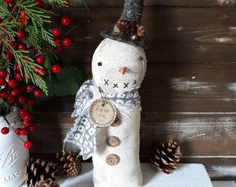 Snowman Decor, Farmhouse Snowman, Primitive Snowman, Rustic Snowman, Vintage Snowman, Christmas Decorations For the Home, Christmas Snowman