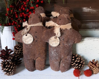 Farmhouse Gingerbread Man, Primitive Gingerbread Man, Rustic Gingerbread Man, Farmhouse Christmas, Primitive Christmas, Christmas Decor