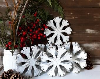 Farmhouse Christmas Snowflake, Primitive Snowflake, Primitive Christmas, Christmas Wood Snowflake, Snowflake Christmas Decor