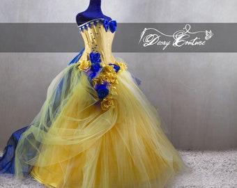 Beauty And The Beast Wedding Dress Etsy