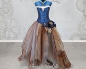 ELAINE Pirate Steampunk Wedding dress, alternative wedding, victorian wedding, steampunk costume, vintage wedding, victorian steampunk