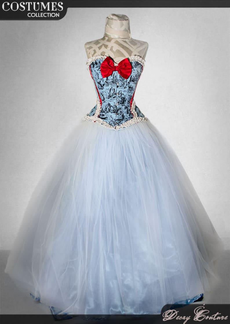 64aec887e23 ALICE IN WONDERLAND wedding dress-winter wonderland-alice