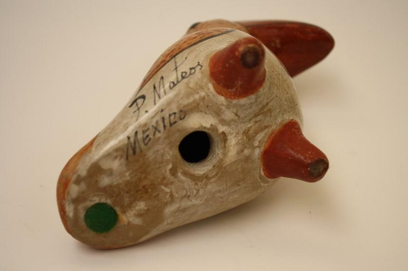 Vintage Mexican Pottery Toucan Parrot Bird Signed P.Mateos tonala