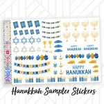 Jewish Holiday Stickers for Happy Planner and Life Planner | Hanukkah Sticker Kit for Memory Planning and Family Celebration