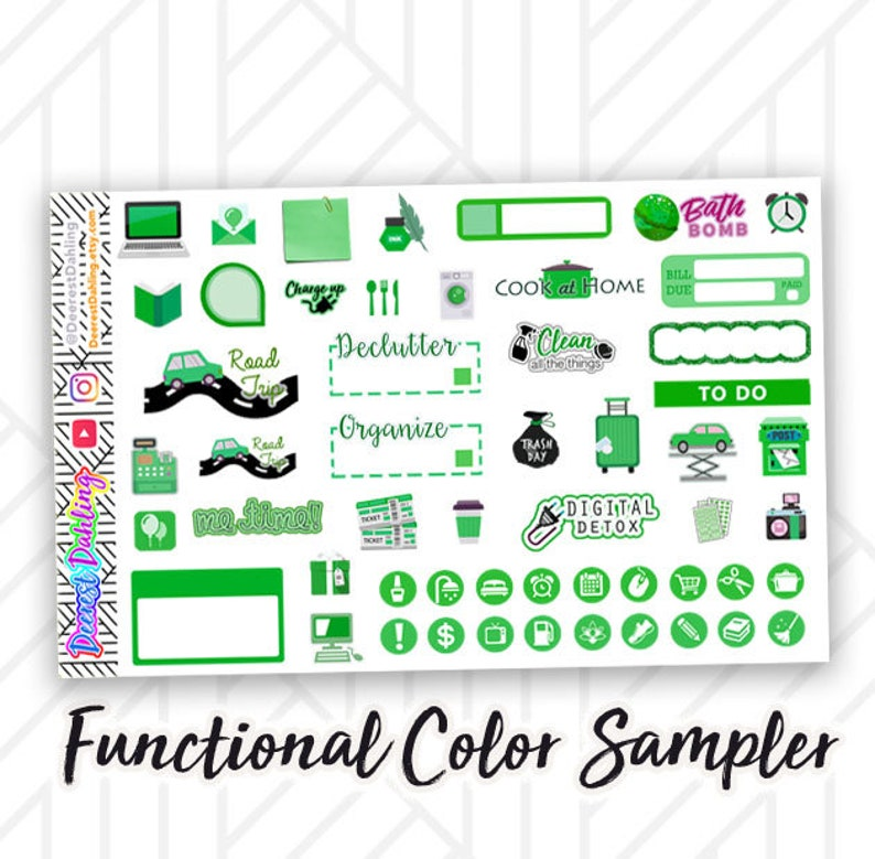 Functional Green Sampler Reminders To Do lists Shopping image 0