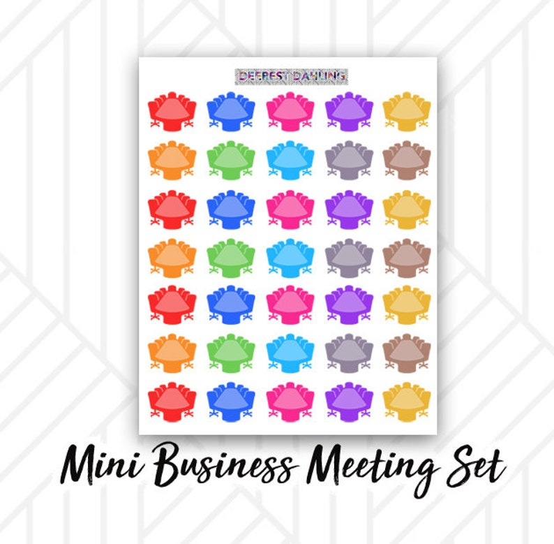 Meeting Conference Sticker for Happy Planner and Life Planner image 0