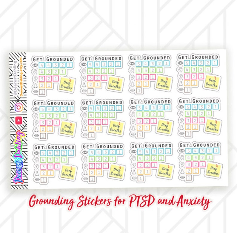 Grounding Sticker Set for Happy Planner and Life Planner  image 0