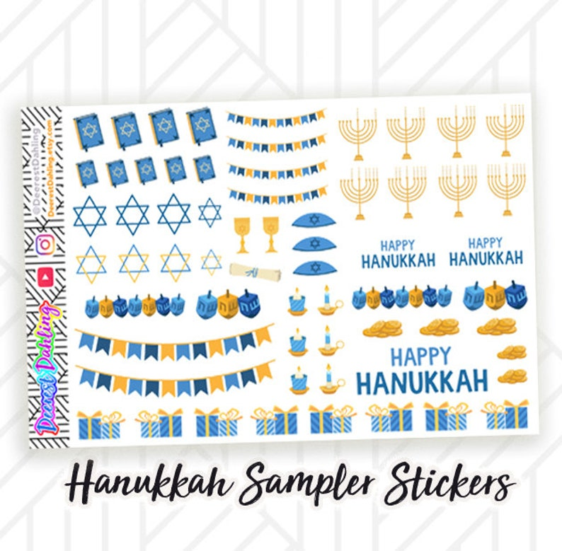 Jewish Holiday Stickers for Happy Planner and Life Planner  image 0