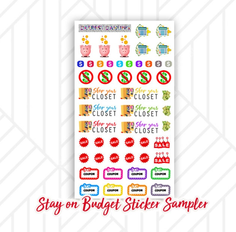 Budgeting Sticker Set for Happy Planner and Life Planner  image 0