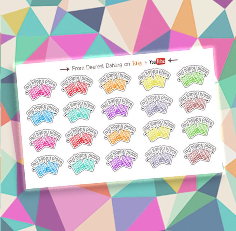 Knitting stickers for Happy Planner and Life Planner  image 0