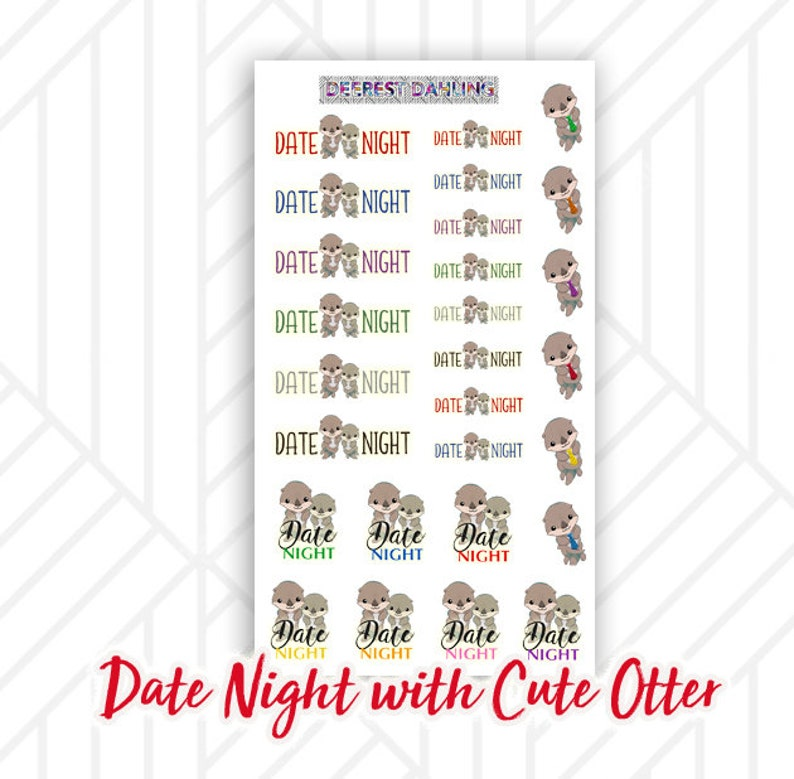 Date Night with Otter for Happy Planner and Life Planner  image 0
