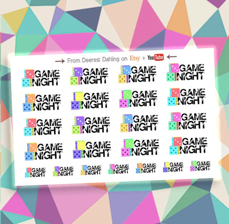 Game Trivia Sticker for Happy Planner and Life Planner  image 0