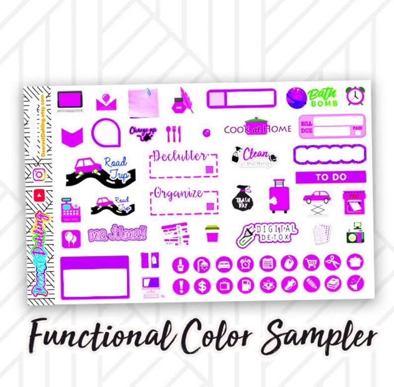 Functional Violet Purple Sampler Reminders To Do lists image 0