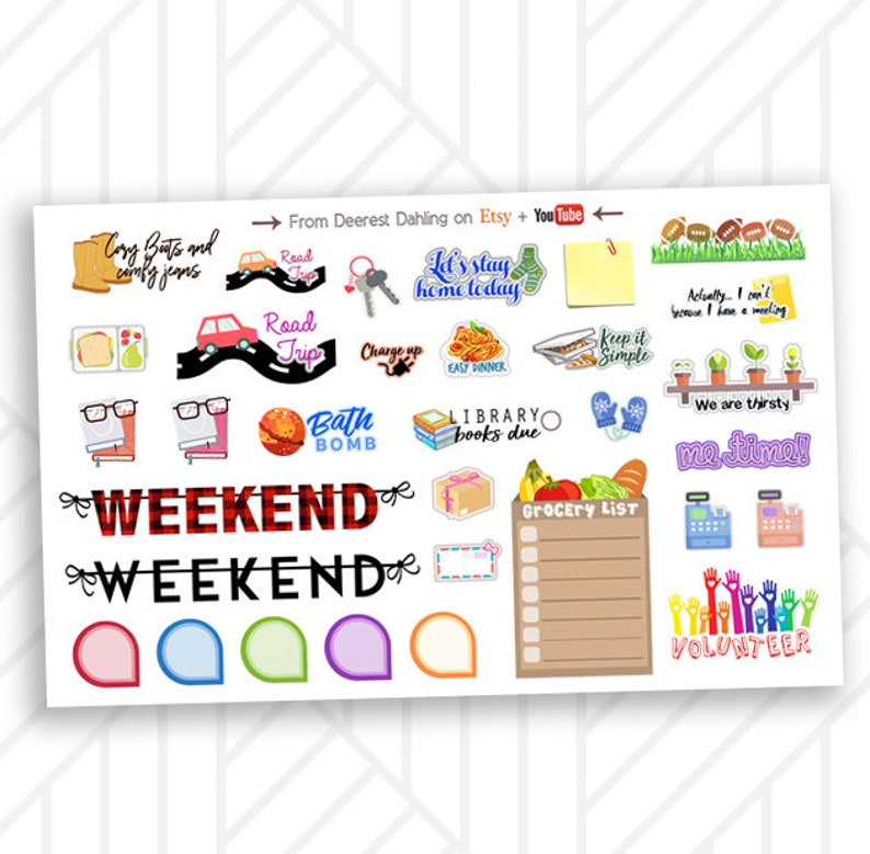 To Do List Weekly Stickers for Happy Planner and Life Planner image 0