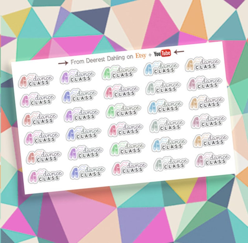 30 Ballet Class Sticker for Happy Planner and Life Planner  image 0