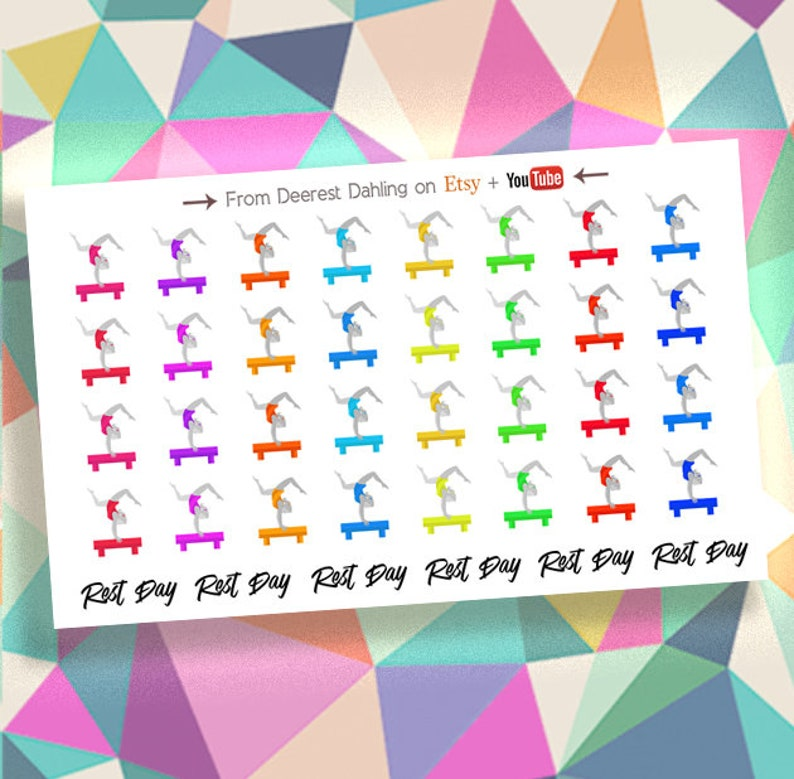 38 Gymnastics Sticker with Happy Planner and Life Planner  image 0