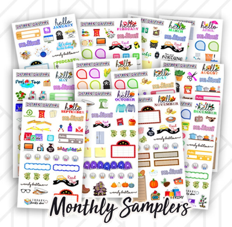 Monthly Holiday Sticker Kit for Happy Planner and Life Planner image 0