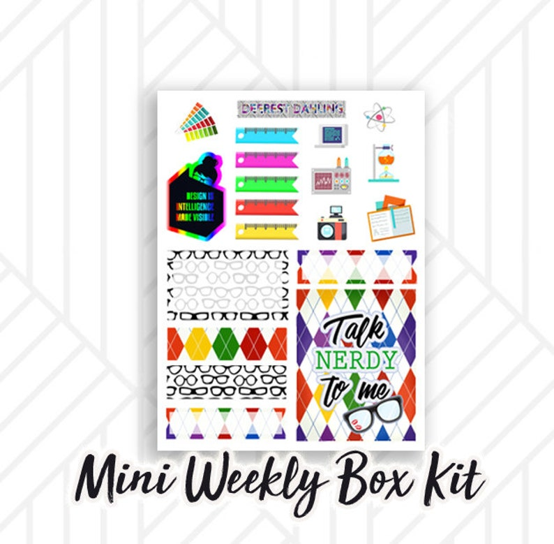 Nerdy Sticker Weekly Kit for Happy Planner and Life Planner  image 0
